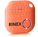 Bluetooth Key Finder Keychain GPS Tracker for Keys with App - Tracking Device for Phone, Keys, Luggage, Backpacks, Wallets, More - Bluetooth Anti-Lost Device Locator Tags - GPS Tracking Chip by Rinex