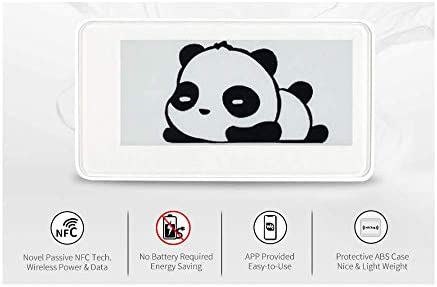 2.9inch Passive NFC-Powered e-Paper Display e-Ink Screen White Black Two Color, Wireless Powering and Data Transfer, Refresh with Smartphone with NFC Function or NFC Reader