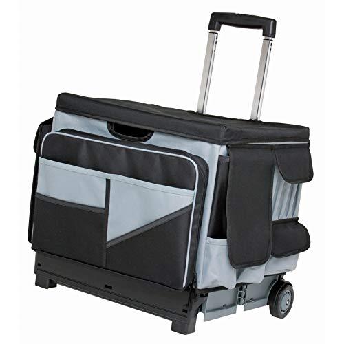 ECR4Kids MemoryStor Universal Rolling Cart and Organizer Bag Set, Black