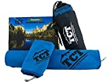 The Camping Trail Outdoors Towel Set - Quick Dry - Super Absorbent - Lightweight - Packable - Best for Camping Hiking Backpacking and Travel - 2 Towels and Carry Bag Included