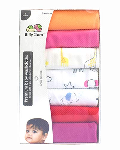 41TaOgLf13L Billy Bum Washcloth for New Born 100% Hosiery Cotton/Reusable Further Tender Face Towels washcloth for Infants (7 items) Shade might range (Pack of 1)