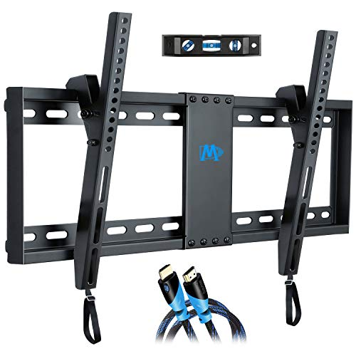 Mounting Dream Tilt TV Wall Mount Bracket for Most 37-70 Inches TVs, TV Mount with VESA up to 600x400mm, Fits 16', 18', 24' Studs and Loading Capacity 132 lbs, Low Profile and Space Saving MD2268-LK