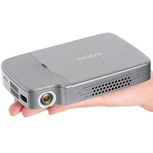 """iCODIS RD-818 Portable Projector, DLP Support 1080P, 2000lm Pico Video Projectors, Perfect for Entertainment Business, Mini Size & 120"""" Display, Build in Rechargeable Battery, Compatible With TV Stick"""