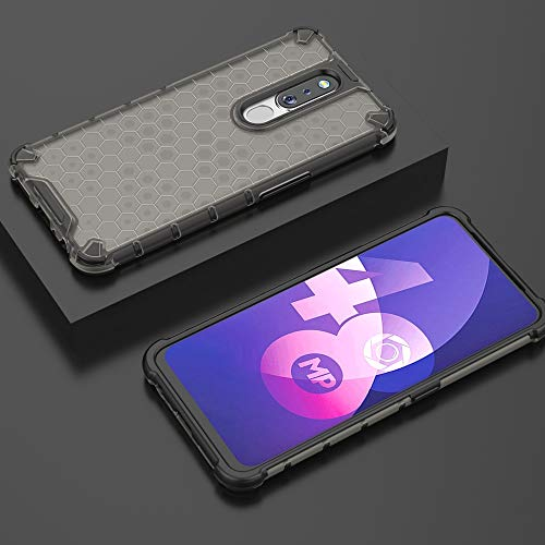 Soezit TPU+PC Dual Layer Honeycomb Pattern Shockproof Back Case Cover for Oppo F11 Pro - Black 3