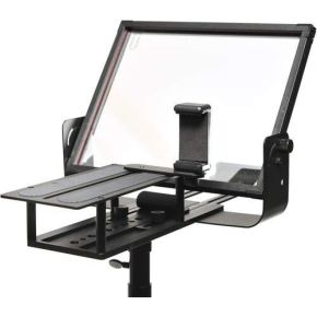 Glide-Gear-TMP100-Adjustable-iPad-Tablet-Smartphone-Teleprompter-Beam-Splitter-7030-Glass-w-Carry-Case-No-Plastic-All-Metal-No-Assembly-Required