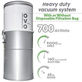 OVO-Heavy-Duty-Powerful-Central-Vacuum-System-Hybrid-Filtration-With-or-Without-disposable-bags-35L-or-925Gal-700-Air-watts-with-30-ft-Deluxe-plus-Accessory-Kit-Large-Vac-Sliver