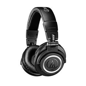 (Renewed) Audio-Technica ATH-M50XBT Wireless Bluetooth Over-Ear Headphones (Black)