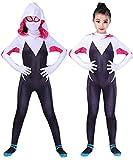 RELILOLI Gwen Stacy Costume Kids (Kids-L-Height(47'-51'))
