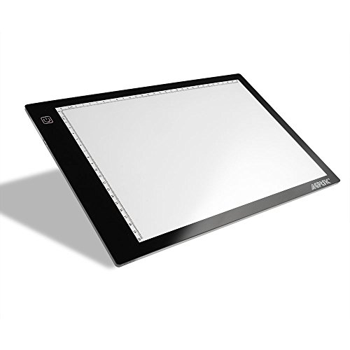 AGPtek HL0163-1-1 17-Inch LED Artcraft Tracing Light Pad Light Box For Artists,Drawing, Sketching, Animation, White