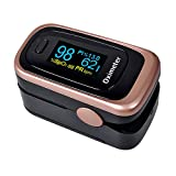 Pulse Oximeter Fingertip Blood Oxygen Saturation Monitor FDA Approved for Children & Adult (Battery & Lanyard Included)(Rose Gold)