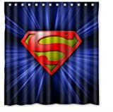 DIY Superman Cool Shower Curtain 66 x 72 inches High quality Waterproof bath curtain