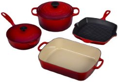 Le Creuset 6 Pc Cast Iron Cookware Set
