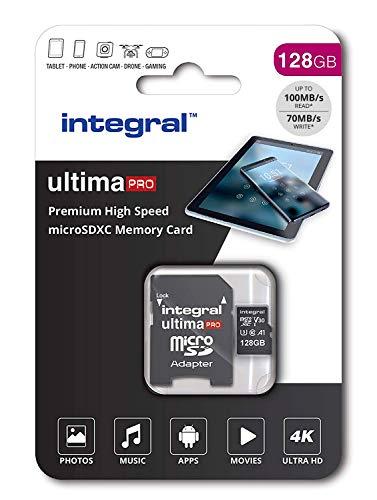 41TxYAwuP0L - Integral 128GB Micro SD Card Premium 4K High Speed Memory Microsdxc Up To 100MB/S V30 UHS-I U3