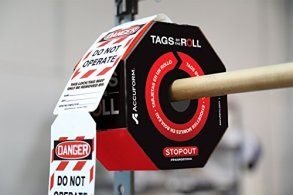 Accuform-Signs-TAR472-Tags-by-The-Roll-Lockout-Tags-LegendDanger-DO-NOT-Operate-Equipment-Locked-Out-by-625-Length-x-3-Width-x-0010-Thickness-PF-Cardstock-RedBlack-on-White-Roll-of-250