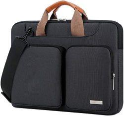 Lacdo 15.6 Inch 360° Protective Laptop Sleeve Case Computer Bag for 15.6″ Acer Aspire, Predator, Inspiron, ASUS ZenBook 15 VivoBook, HP Pavilion, Lenovo IdeaPad 330, ThinkPad E590, Chromebook, Black