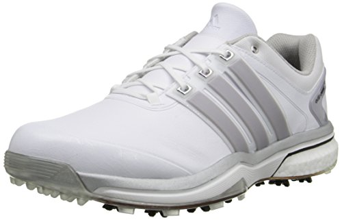 adidas Men's Adipower Boost-M, Silver Metallic/Running White, 10 M US