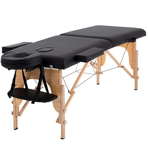 Massage Table Massage Bed Spa Bed 73' Long Portable 2 Folding W/Carry Case Table Heigh Adjustable Salon Bed Face Cradle Bed