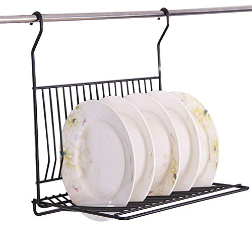 Agyvvt Wall Mounted Dish Drying Rack Draining Iron Stainless Steel Kitchen Hanging Folding Tableware Rack Plates Bowls Storage Organizer Holder