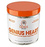 Genius Heart & Cardiovascular Health Supplement - Cholesterol Lowering Vein & Blood Pressure Support w/Grape Seed Extract, Vitamin K2 MK7 & CoQ10 - Antioxidant Energy for Men & Women,60 Veggie Pills