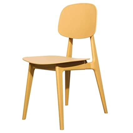 Amazon Com Chairs Home Dining Cafe Outdoor Yellow Desk Office Gift Color Yellow Size  Cm Kitchen Dining