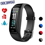 Mgaolo Fitness Tracker,Smart Watch Activity Tracker Health Bracelet Waterproof Wristband with Heart Rate Blood Pressure Pedometer Sleep Monitor Calorie Step Counter for Men Women Kids (Black)