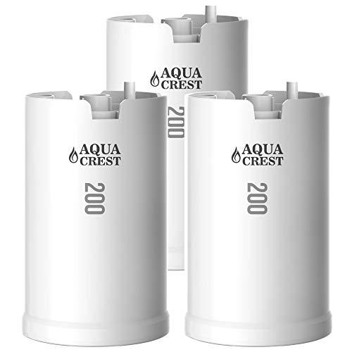 AQUACREST WFFMC303X Faucet Water Filter, Compatible with DuPont FMC303X, WFFMC300X Faucet Mount Water Filtration Cartridge, 200-Gallon (Pack of 3)