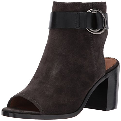 41UHkH0r1VL Frye iconic harness detail on a transitional bootie 5 Inches shaft height, 10.25 Inches shaft circumference