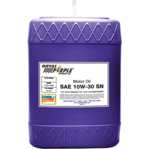 Royal Purple 05130 API-Licensed SAE 10W-30 High Performance Synthetic Motor Oil - 5 gal.