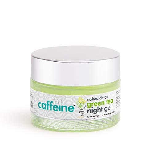 41UJCyn9IaL - mCaffeine Naked Detox Green Tea Night Gel | Moisturization | Vitamin C, Hyaluronic Acid | All Skin | Paraben & Mineral Oil Free | 50 ml