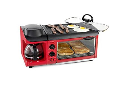 All-In-One-Breakfast-Maker-Red