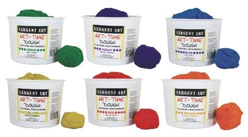 Sargent Art 6 Color Dough Set, 3 Pounds Each, Art-Time Artist Dough, 18-Pound Assortment