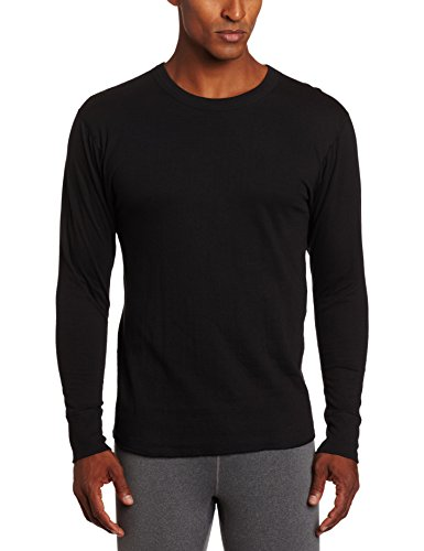 Duofold Men's Mid-Weight Wicking Shirt, Black, Large