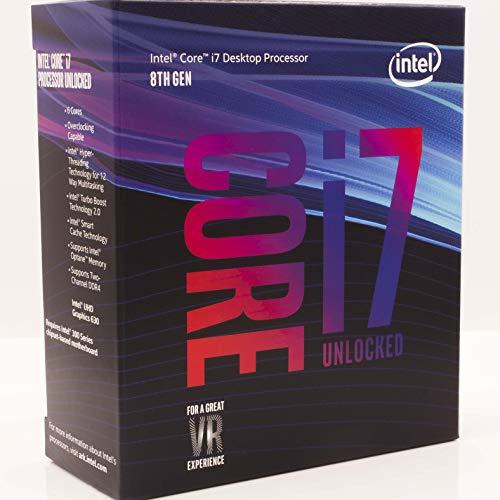 Intel Core i7-8700K Desktop Processor 6 Cores up to 4.7GHz Turbo Unlocked LGA1151 300 Series 95W