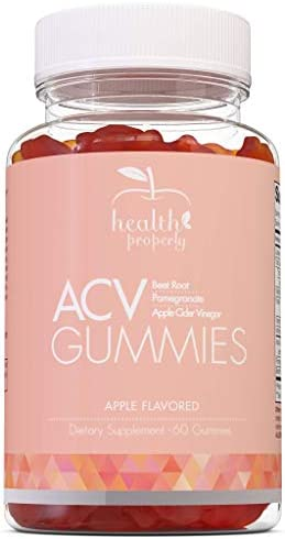 HEALTH PROPERLY - Apple Cider Vinegar Gummies | Immune System Support | Liver Detox & Weight Loss | Great Taste 60 Count | All Natural Superfood Cleanse 1