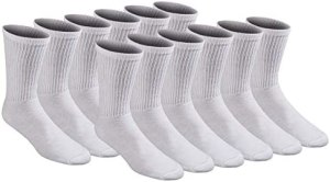 Dickies Men's All Purpose Cushion Crew Socks (6/12 Packs)