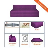 Aart-Store-4X6-Feet-Two-Seater-Printed-Mechanism-Type-Fold-Out-Sofa-Cum-Bed-with-Two-Cushion-Perfect-for-Guests
