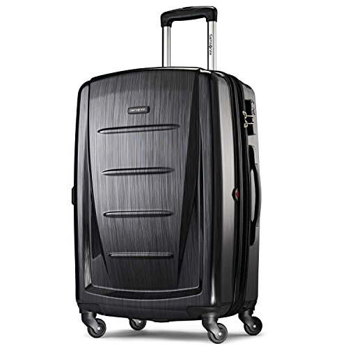 Samsonite Winfield 2 Hardside Luggage, Brushed Anthracite, Checked-Medium