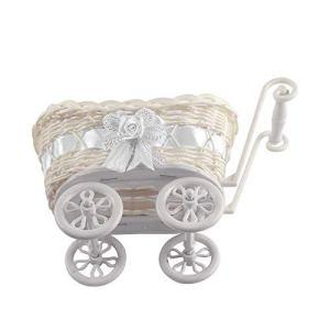 Small Basket – White – Premium Quality Baby Shower Unisex Natural 41URiEYNFDL