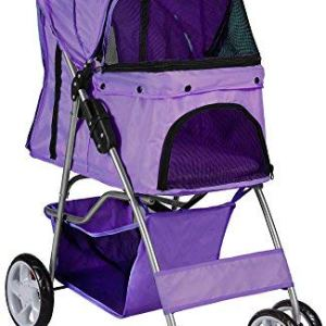 Paws & Pals 4 Wheeler Elite Jogger Pet Stroller Cat/Dog Easy to Walk Folding Travel Carrier 15