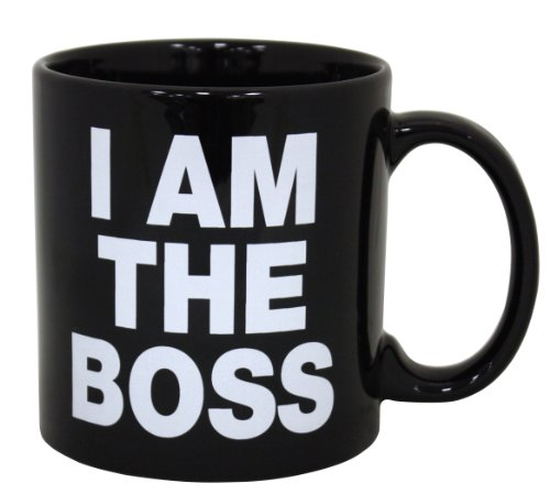 Island Dogs Giant I am The Boss Mug, Black