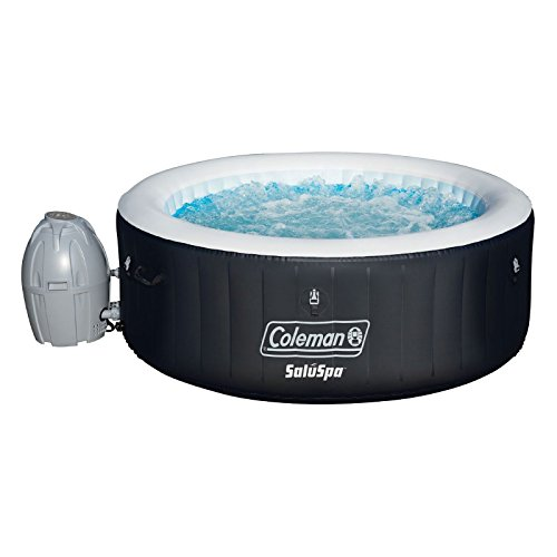 "Coleman 71"" x 26"" Portable Spa Inflatable 4-Person Hot Tub, Black, 13804"