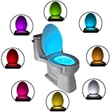 The Original Toilet Night Light Tech Gadget. Fun Bathroom Motion Sensor LED Lighting. Weird Novelty Funny Birthday Father's Day Gag Gifts Ideas for Him Her Guys Men Stepdad Boys Toddlers Mom Papa