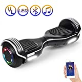 SISIGAD Hoverboard Self Balancing Scooter 6.5' Two-Wheel Self Balancing Hoverboard with Bluetooth Speaker...