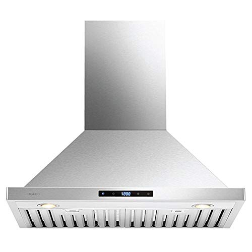 CAVALIERE 30' Range Hood Wall Mounted Stainless Steel Kitchen Vent 860 CFM