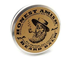Honest Amish Beard Balm Leave-in Conditioner - Made with only Natural and Organic Ingredients - 2 Ounce Tin  Image 1