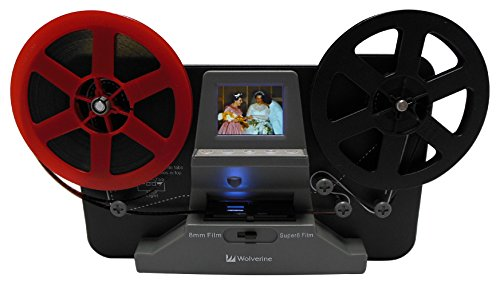 Wolverine 8mm and Super 8 Film Reel Converter Scanner to convert film into digital videos. Frame by Frame Scanning to convert 3 inch and 5 inch 8mm Super 8 film reels into 720P digital