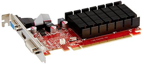 VisionTek Radeon 5450 2GB DDR3 (DVI-I, HDMI, VGA) Graphics Card – 900861,Black/Red