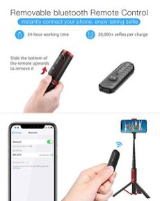 Selfie-Stick-Tripod-BlitzWolf-Lightweight-Aluminum-All-in-One-Extendable-Phone-Tripod-Selfie-Stick-Bluetooth-with-Remote-for-iPhone-11-ProXS-MAXXSXRX8-Plus7-Plus6S-Galaxy-S10S9S9-Plus-More