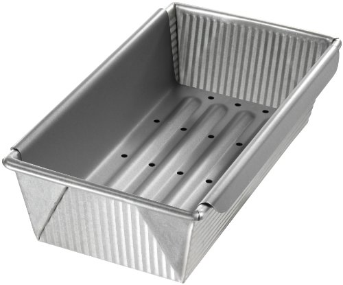 USA Pan Bakeware Aluminized Steel Meat Loaf Pan with Insert
