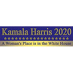 Kamala Harris 2020 A Woman's Place is in The White House Magnetic Bumper Sticker